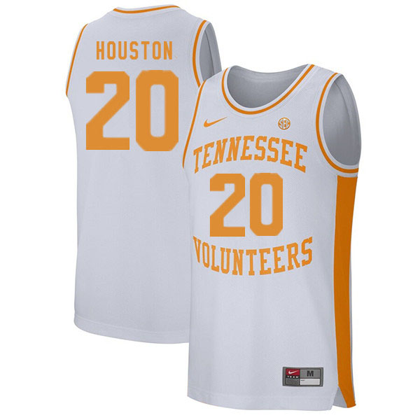 Men #20 Allan Houston Tennessee Volunteers College Basketball Jerseys Sale-White