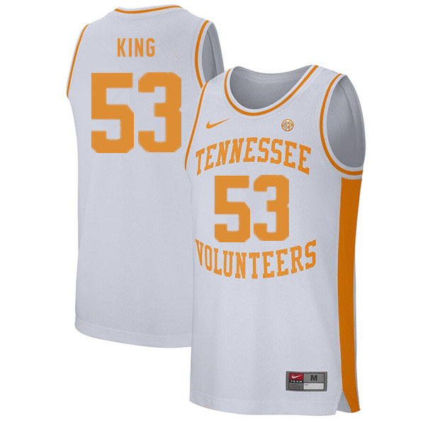 Men #53 Bernard King Tennessee Volunteers College Basketball Jerseys Sale-White