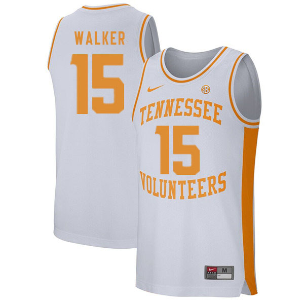 Men #15 Derrick Walker Tennessee Volunteers College Basketball Jerseys Sale-White