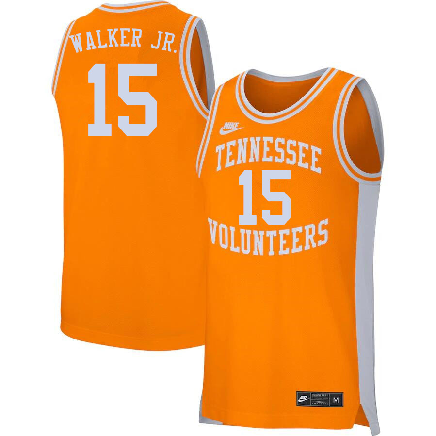 Men #15 Corey Walker Jr. Tennessee Volunteers College Basketball Jerseys Sale-Orange