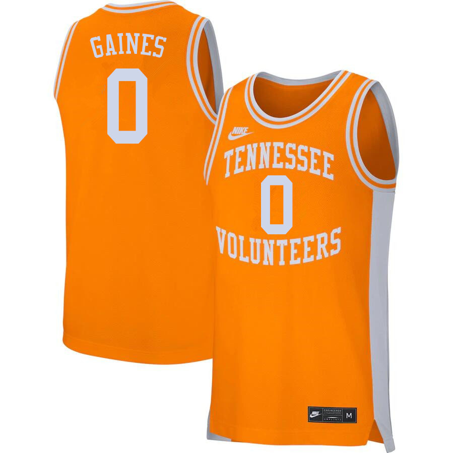 Men #0 Davonte Gaines Tennessee Volunteers College Basketball Jerseys Sale-Orange