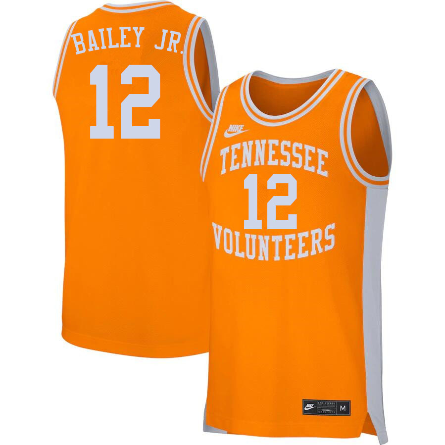 Men #12 Victor Bailey Jr. Tennessee Volunteers College Basketball Jerseys Sale-Orange