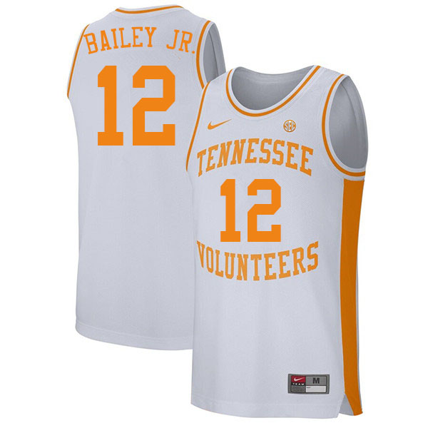 Men #12 Victor Bailey Jr. Tennessee Volunteers College Basketball Jerseys Sale-White