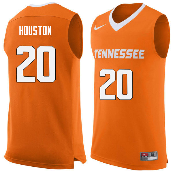 Men #20 Allan Houston Tennessee Volunteers College Basketball Jerseys Sale-Orange