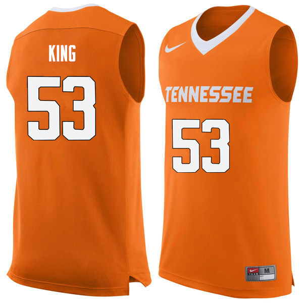 Men #53 Bernard King Tennessee Volunteers College Basketball Jerseys Sale-Orange