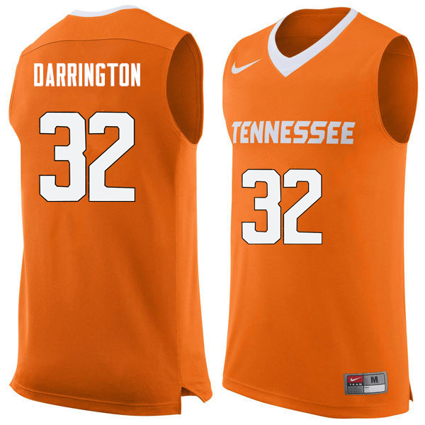 Men #32 Chris Darrington Tennessee Volunteers College Basketball Jerseys Sale-Orange