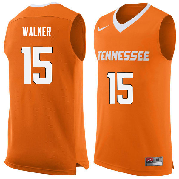 Men #15 Derrick Walker Tennessee Volunteers College Basketball Jerseys Sale-Orange