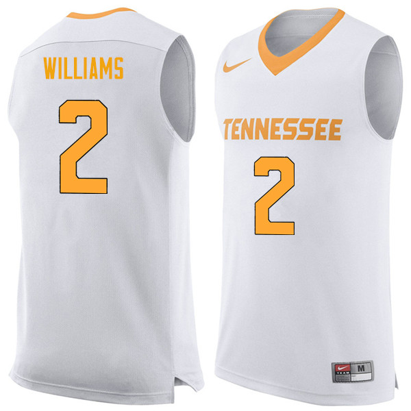 Men #2 Grant Williams Tennessee Volunteers College Basketball Jerseys Sale-White