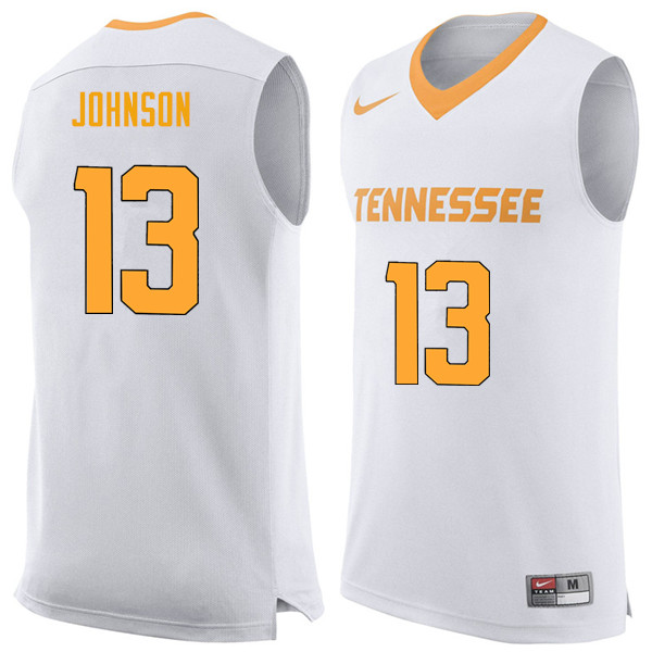 Men #13 Jalen Johnson Tennessee Volunteers College Basketball Jerseys Sale-White