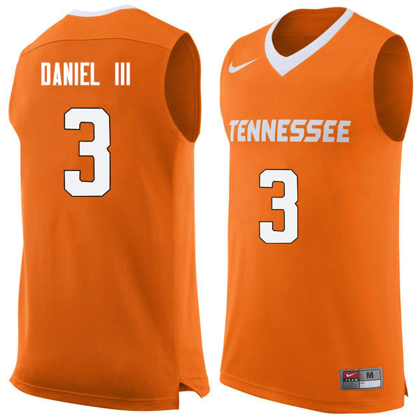 Men #3 James Daniel III Tennessee Volunteers College Basketball Jerseys Sale-Orange