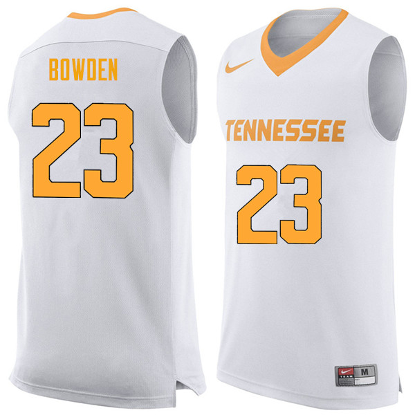 Men #23 Jordan Bowden Tennessee Volunteers College Basketball Jerseys Sale-White