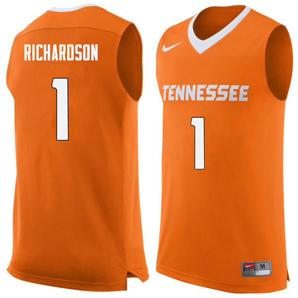 Men #1 Josh Richardson Tennessee Volunteers College Basketball Jerseys Sale-Orange