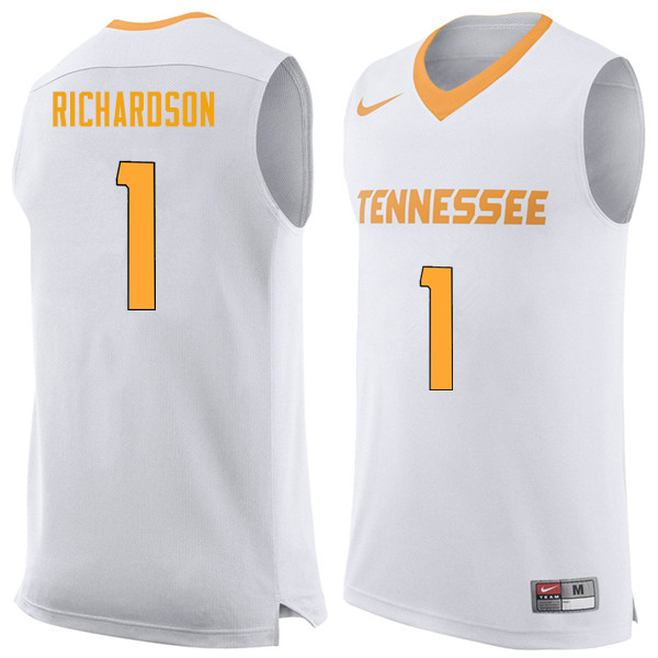 Men #1 Josh Richardson Tennessee Volunteers College Basketball Jerseys Sale-White