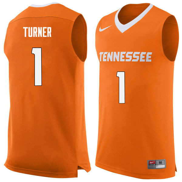 Men #1 Lamonte Turner Tennessee Volunteers College Basketball Jerseys Sale-Orange