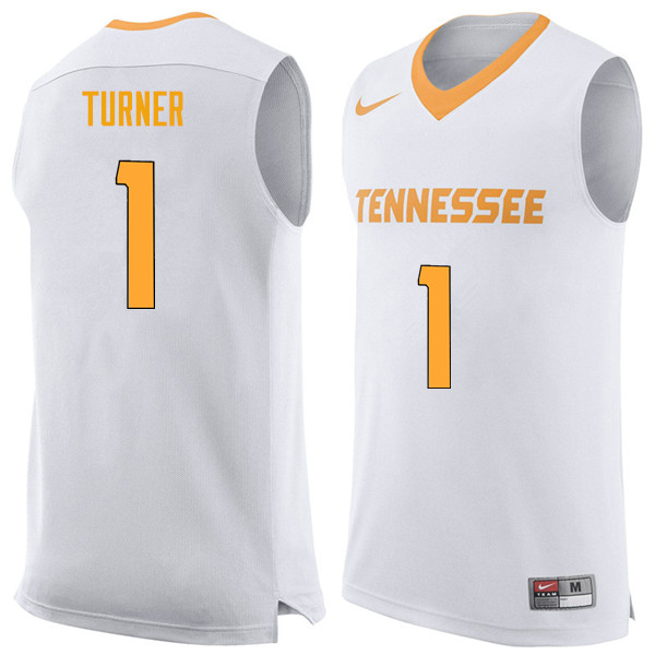 Men #1 Lamonte Turner Tennessee Volunteers College Basketball Jerseys Sale-White