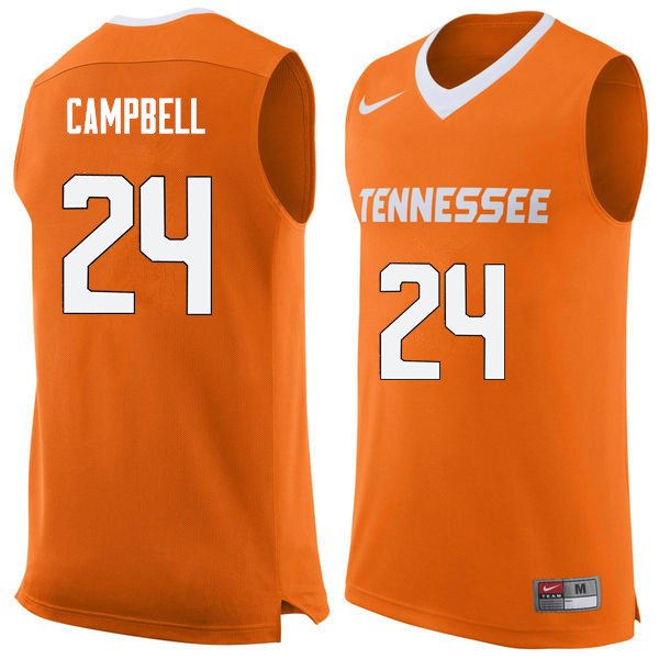 Men #24 Lucas Campbell Tennessee Volunteers College Basketball Jerseys Sale-Orange