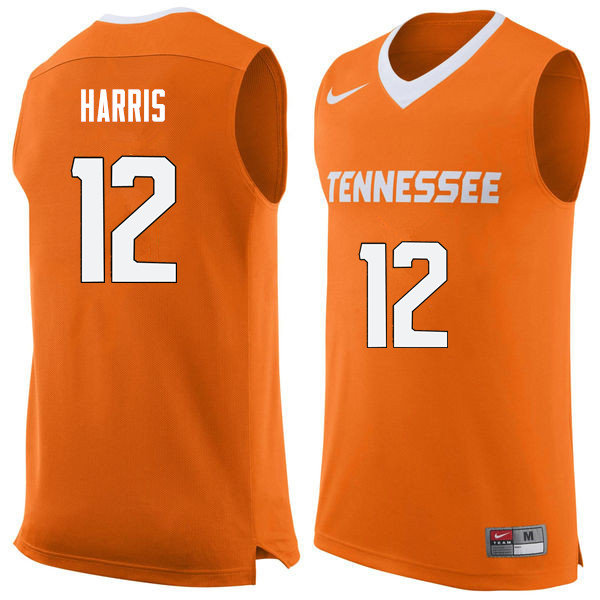 Men #12 Tobias Harris Tennessee Volunteers College Basketball Jerseys Sale-Orange