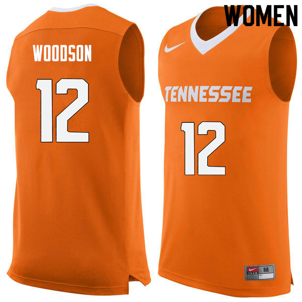 Women #12 Brad Woodson Tennessee Volunteers College Basketball Jerseys Sale-Orange