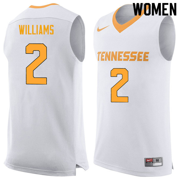 Women #2 Grant Williams Tennessee Volunteers College Basketball Jerseys Sale-White