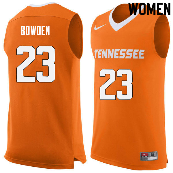 Women #23 Jordan Bowden Tennessee Volunteers College Basketball Jerseys Sale-Orange