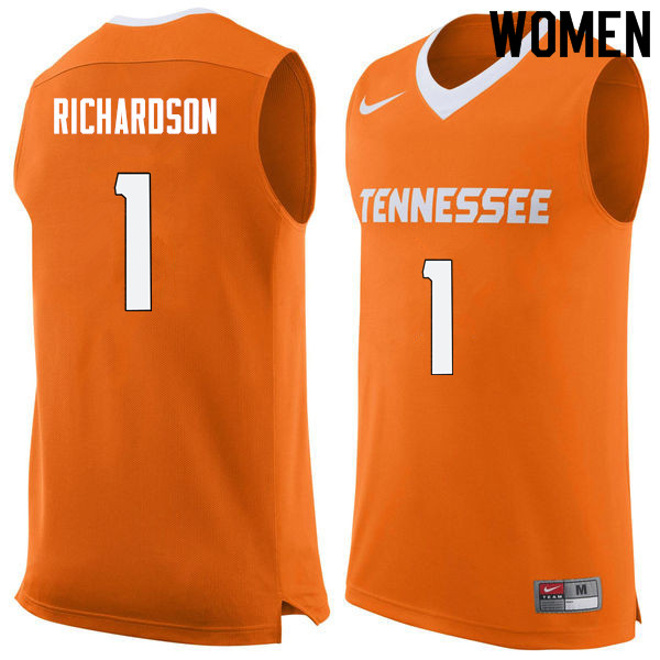 Women #1 Josh Richardson Tennessee Volunteers College Basketball Jerseys Sale-Orange