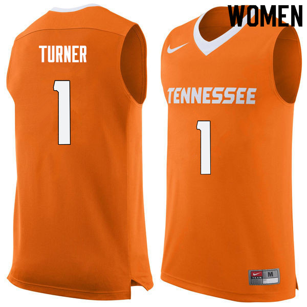 Women #1 Lamonte Turner Tennessee Volunteers College Basketball Jerseys Sale-Orange