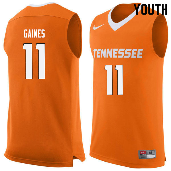 Youth #11 Davonte Gaines Tennessee Volunteers College Basketball Jerseys Sale-Orange