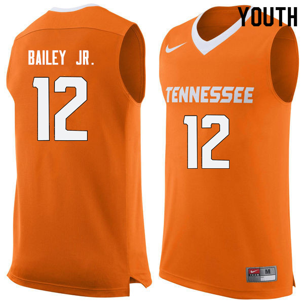 Youth #12 Victor Bailey Jr. Tennessee Volunteers College Basketball Jerseys Sale-Orange