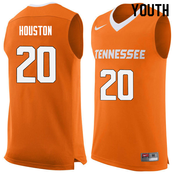 Youth #20 Allan Houston Tennessee Volunteers College Basketball Jerseys Sale-Orange