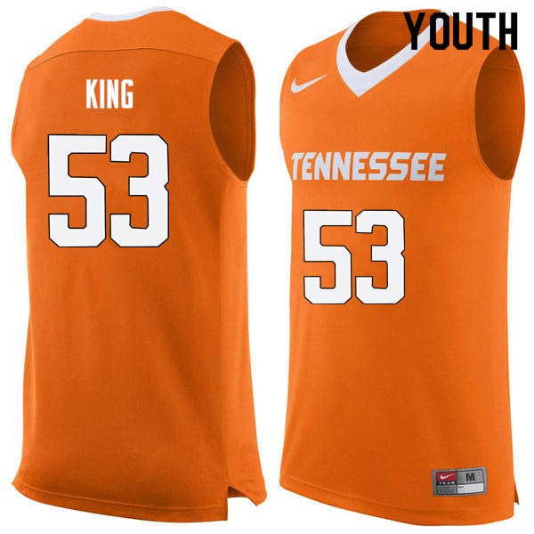 Youth #53 Bernard King Tennessee Volunteers College Basketball Jerseys Sale-Orange