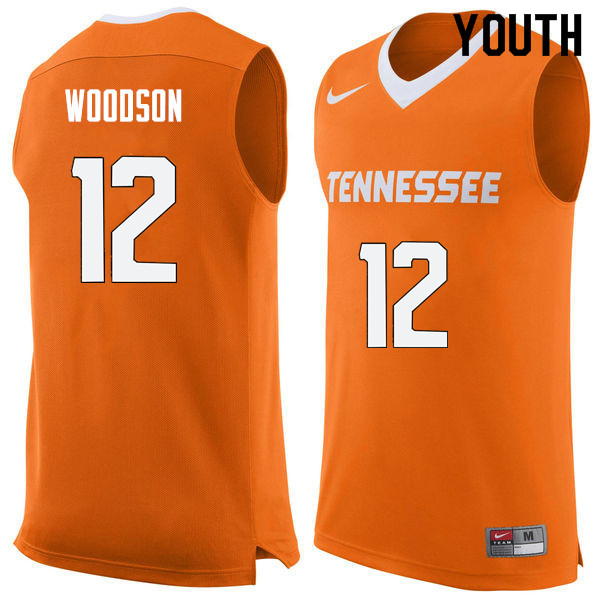 Youth #12 Brad Woodson Tennessee Volunteers College Basketball Jerseys Sale-Orange