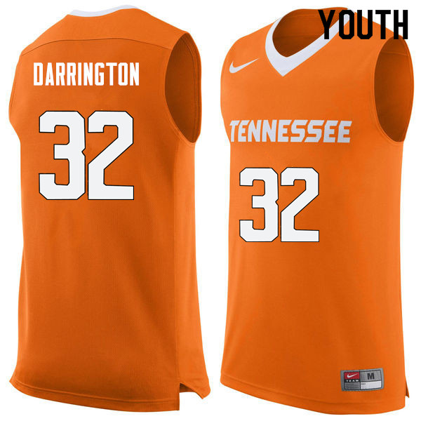 Youth #32 Chris Darrington Tennessee Volunteers College Basketball Jerseys Sale-Orange