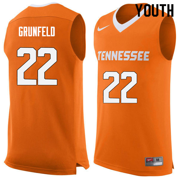 Youth #22 Ernie Grunfeld Tennessee Volunteers College Basketball Jerseys Sale-Orange