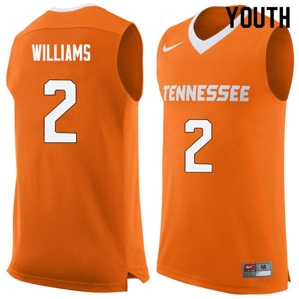 Youth #2 Grant Williams Tennessee Volunteers College Basketball Jerseys Sale-Orange