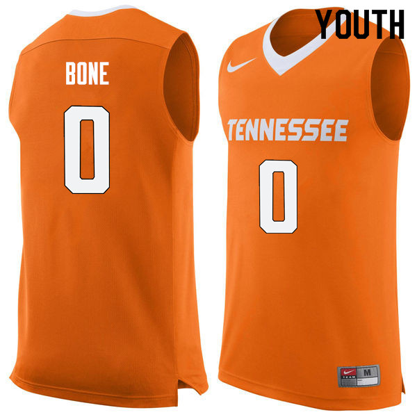 Youth #0 Jordan Bone Tennessee Volunteers College Basketball Jerseys Sale-Orange