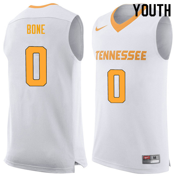 Youth #0 Jordan Bone Tennessee Volunteers College Basketball Jerseys Sale-White