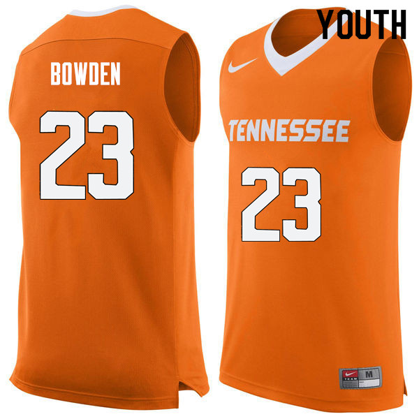 Youth #23 Jordan Bowden Tennessee Volunteers College Basketball Jerseys Sale-Orange