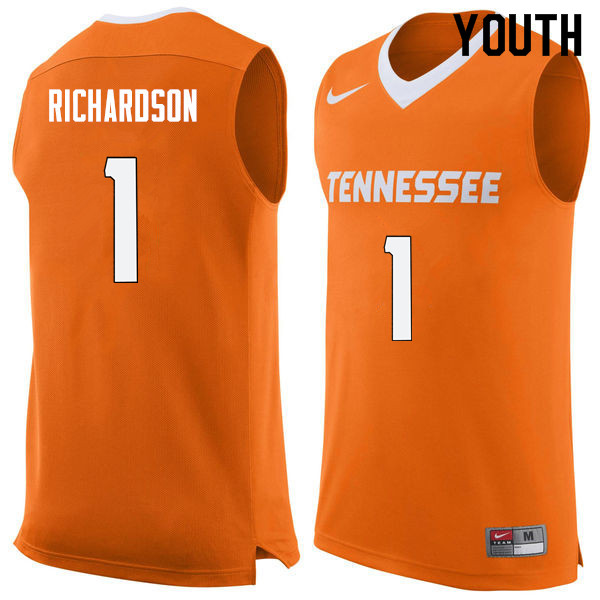 Youth #1 Josh Richardson Tennessee Volunteers College Basketball Jerseys Sale-Orange