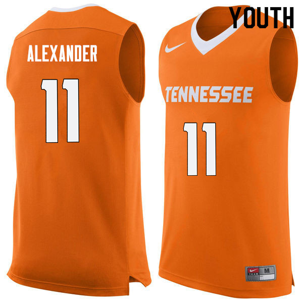 Youth #11 Kyle Alexander Tennessee Volunteers College Basketball Jerseys Sale-Orange