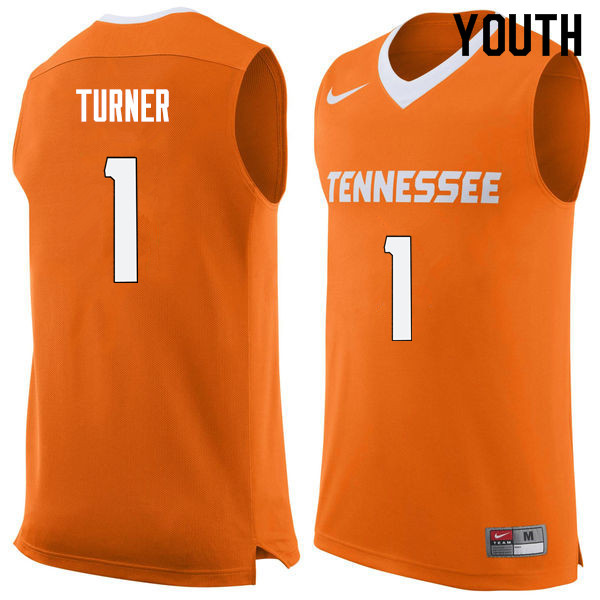 Youth #1 Lamonte Turner Tennessee Volunteers College Basketball Jerseys Sale-Orange